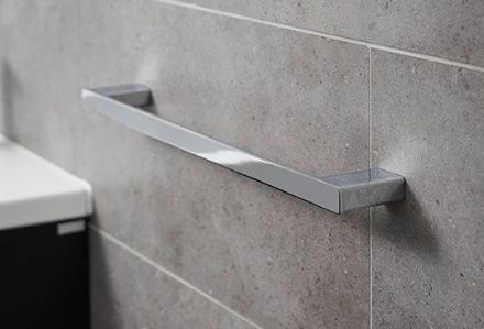 Miller Miami Chrome Long Single Towel Rail 500 mm